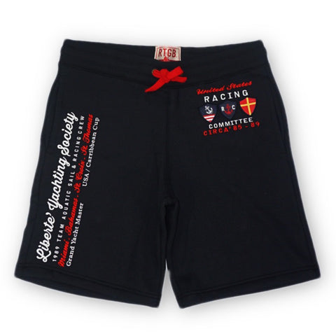 Yacht Racing Fleece Shorts (Navy) /D5