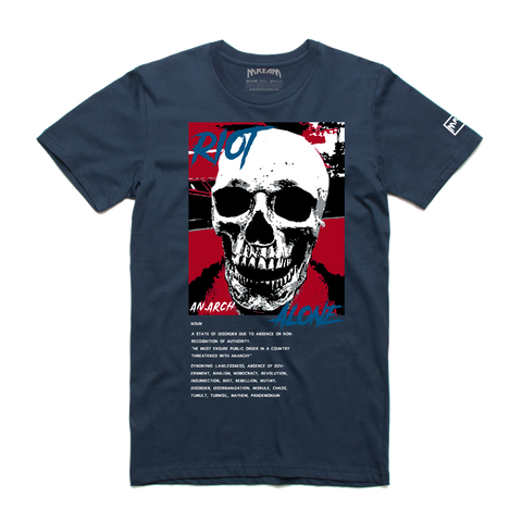 Riot Alone Red/Blue Tee (Navy) /D7