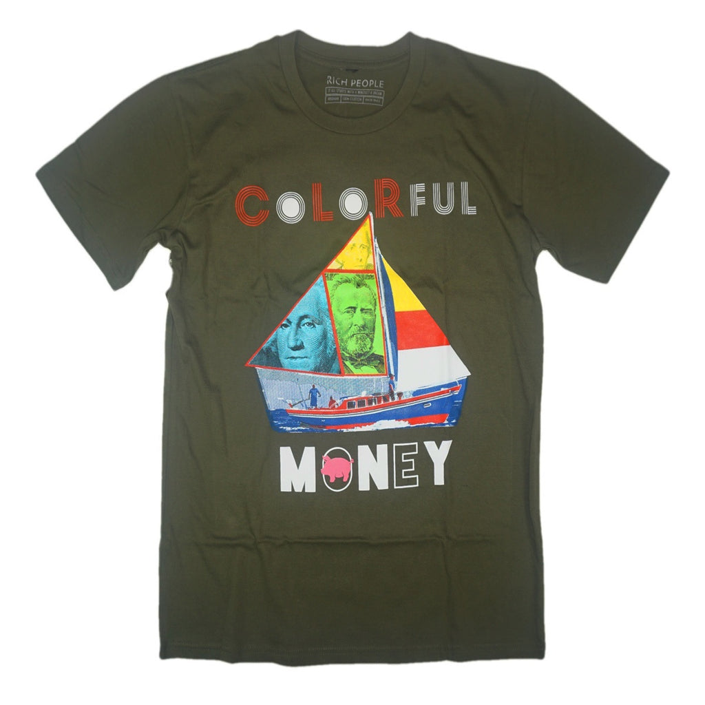 Colorful Sail Tee (Olive)