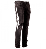 Lightning Stripe Jeans (Black)/C2