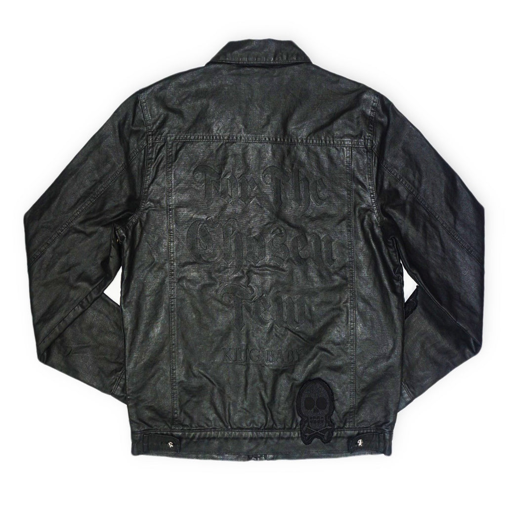 Coated Denim Jean Jacket (Black)