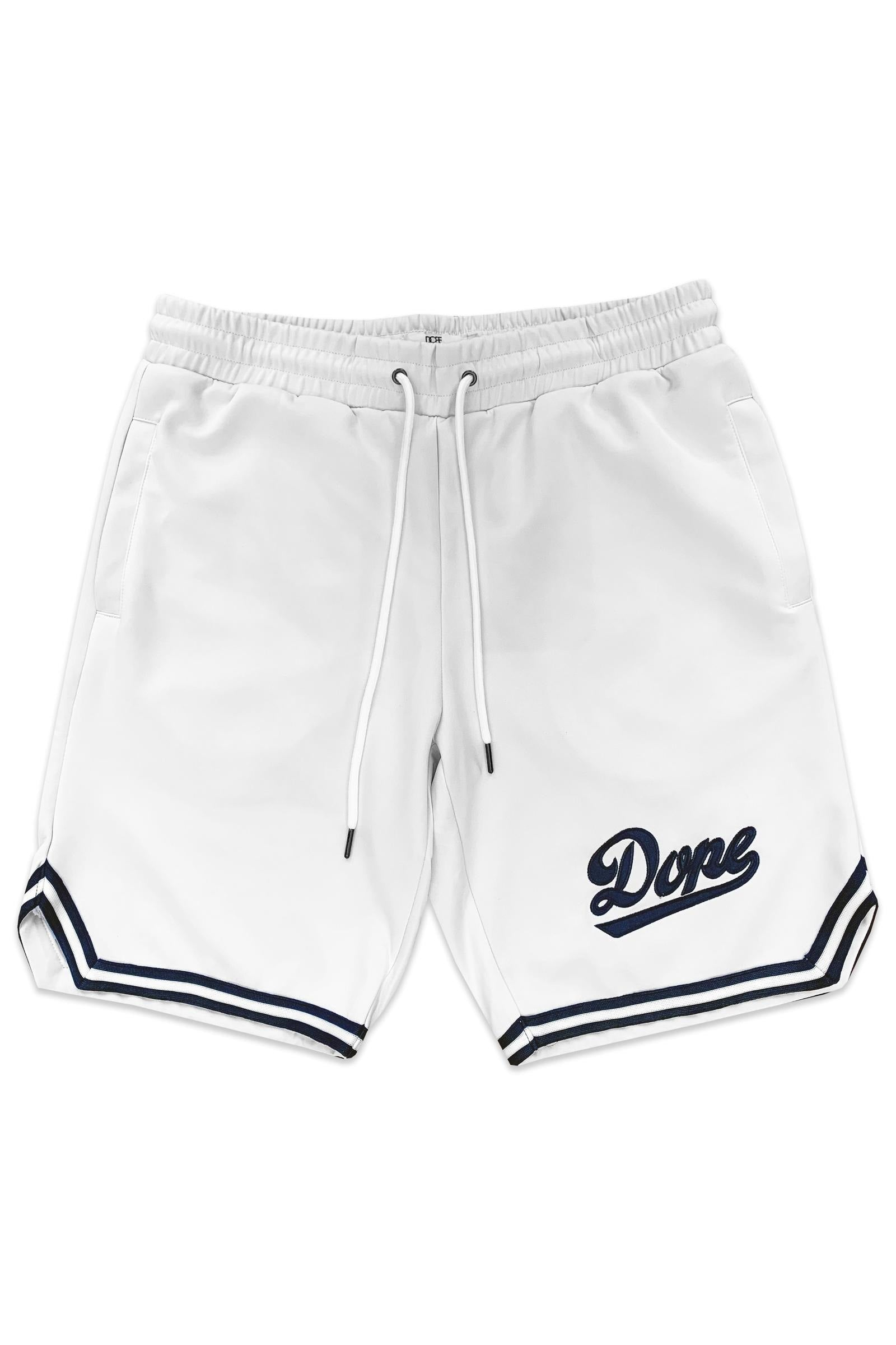 Infield Baseball Shorts (White/Navy) / C4