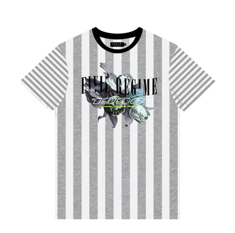 1990 Sound Stripe Tee (Grey/Wte)