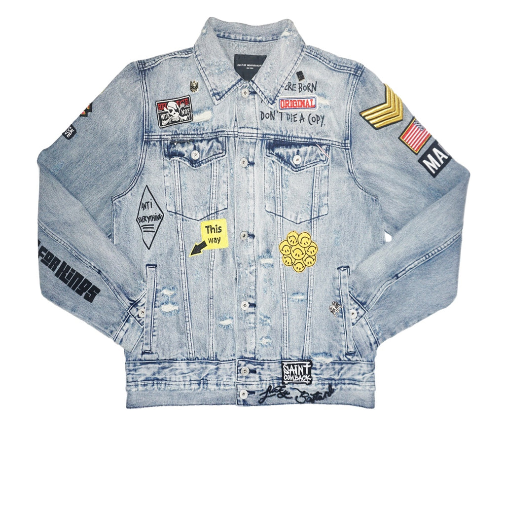 Type 2 Denim Graffiti Jacket (Blue)