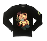 Scribble Bear Crewneck (Black) /D11