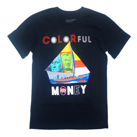 Colorful Sail Tee (Navy) / D16