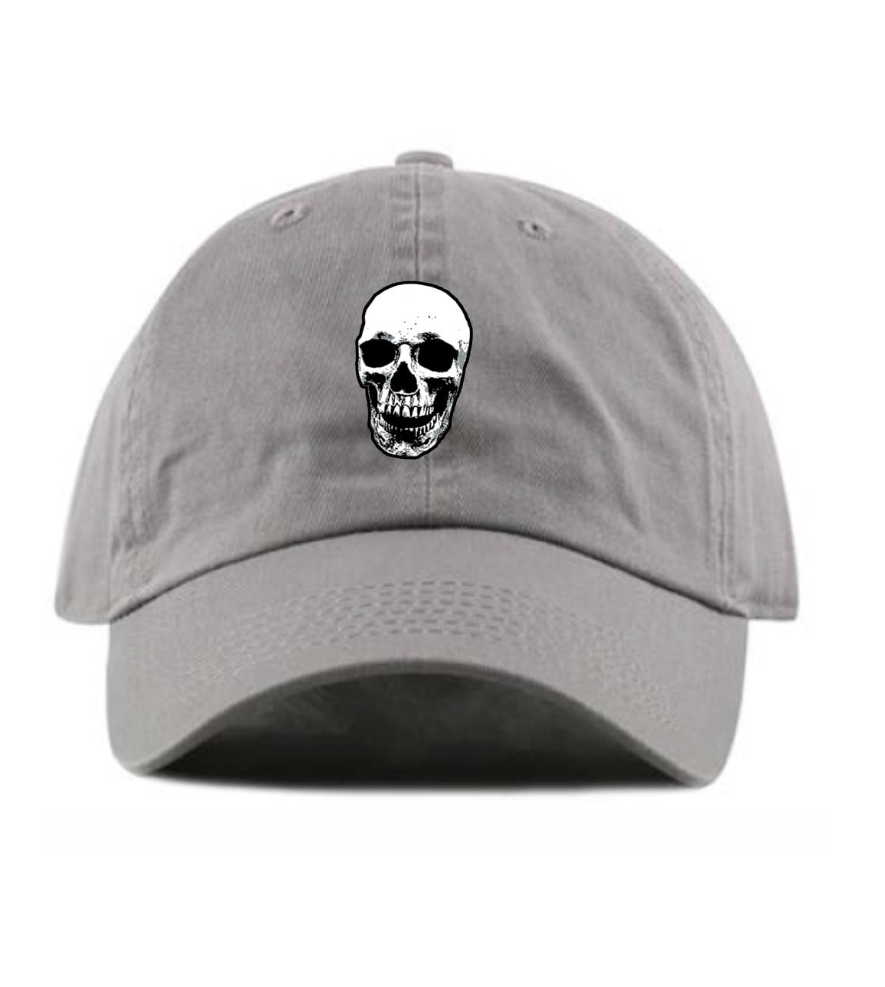 Skull Dad Hat (Grey)