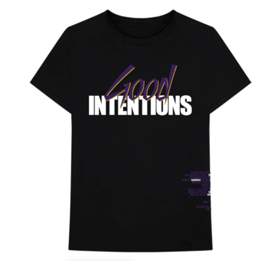 Nav x VLONE Good Intentions Doves Tee (Blk/Prp) /D8