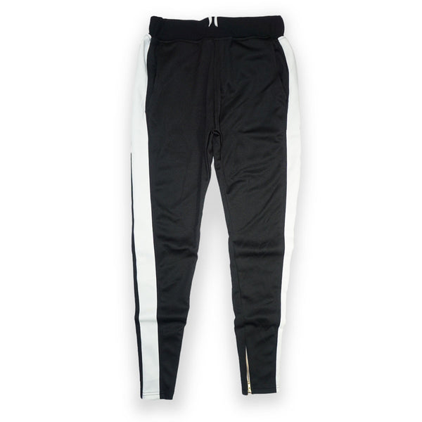 Due Date- Zidane Trackpants (Blk/Wte) /C8