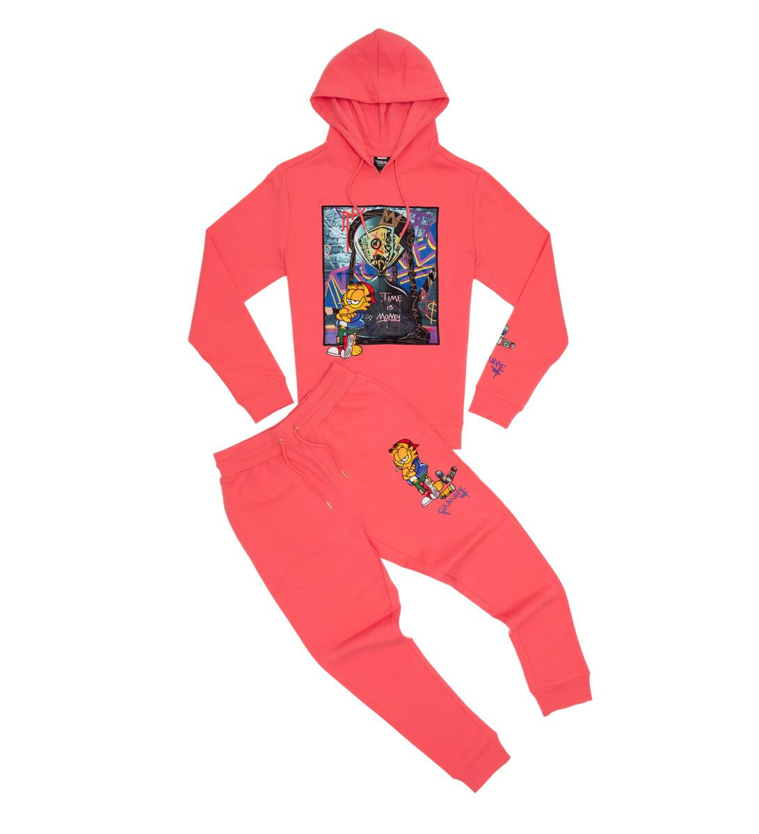 Garfield Time is Money Jogger Set (Pink)  /C9