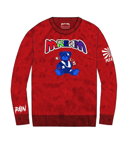 Mream Chenille Logo Teddy Crew (Red) / C3