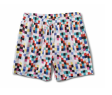 Pixel Board Shorts (White) /MD1