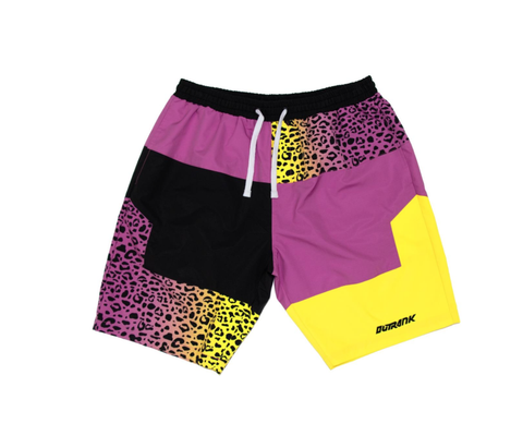 Tropic Cheetah Nylon Shorts (Purple/Multi) /D4