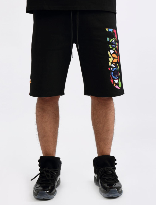 Britto Eyes Logo Shorts (Black) / D17