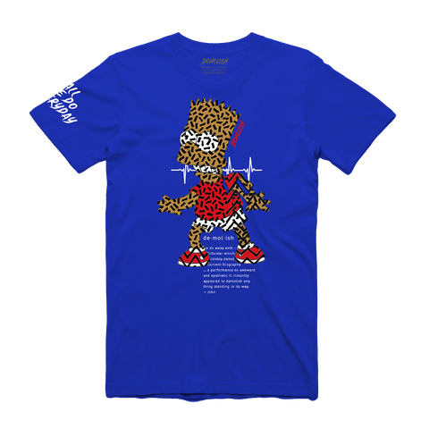 Bart Puzzled Tee (Royal) /D12