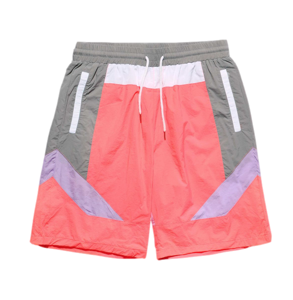 Color Block Nylon Shorts (Fuchsia) /C5