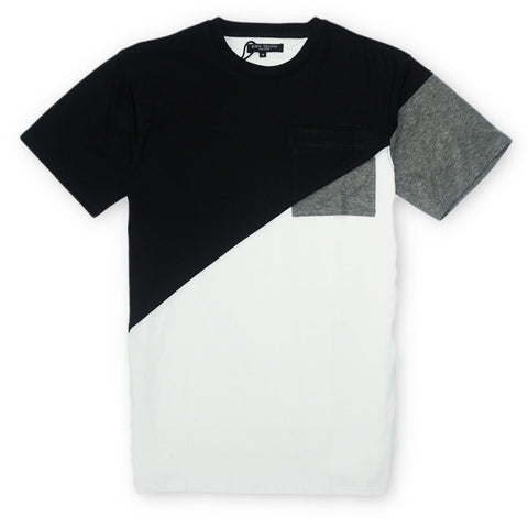 Top Layer Tee (Black/Wte/Grey)
