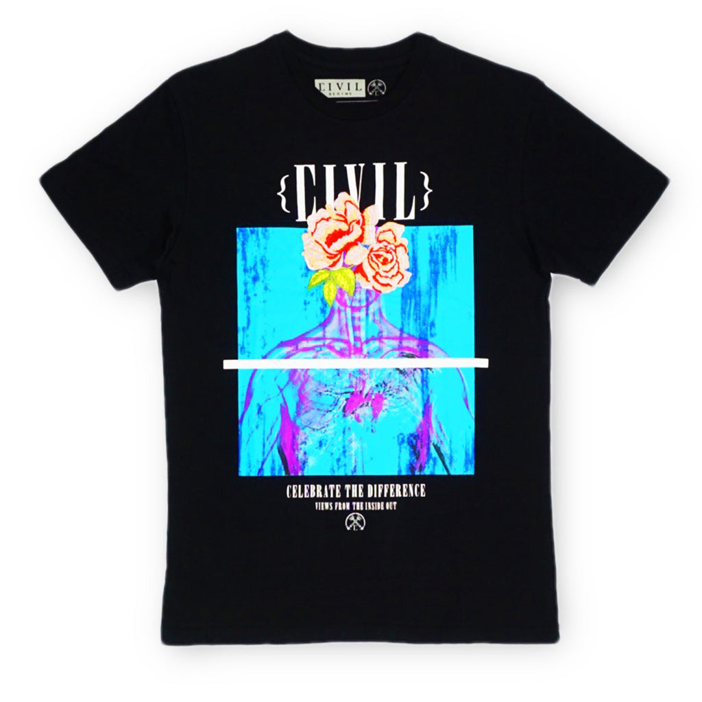 Inside View Embroidery Tee (Black)