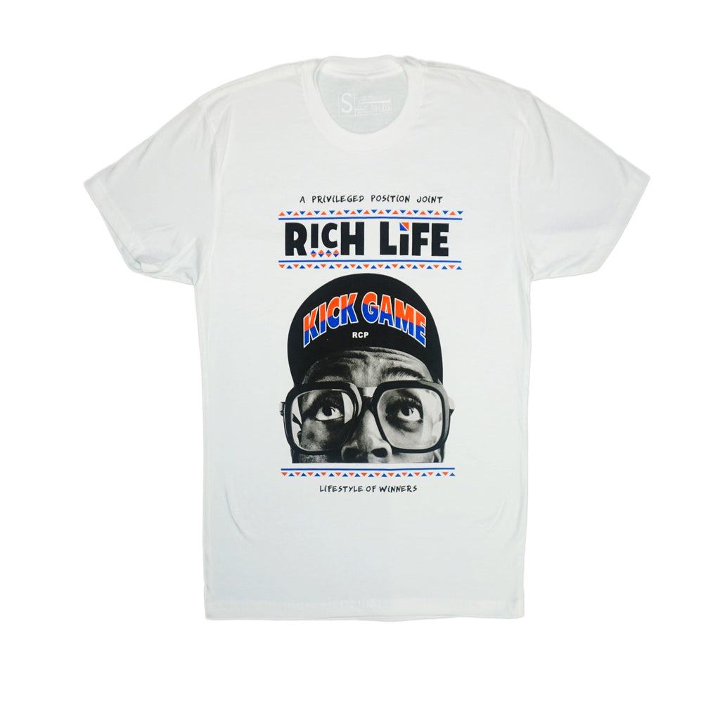 Rich Life Kick Game Tee (White)