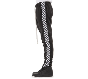 EPTM- Racing Track Pants (Black Checker) /C6