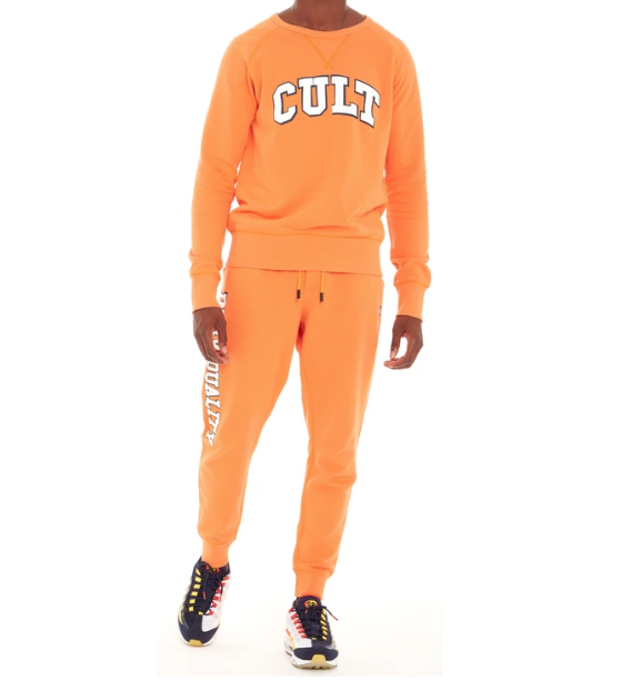 Crewneck Fleece Logo Set (Orange) /D6
