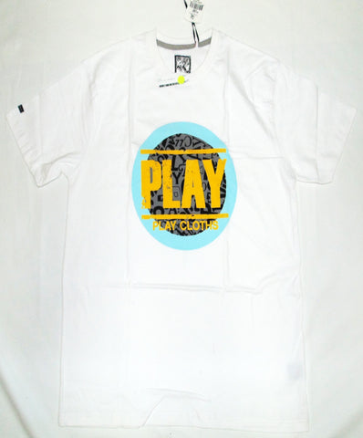 Play Cloth- Stamp Play T-Shirt White/Light Blue/Yellow