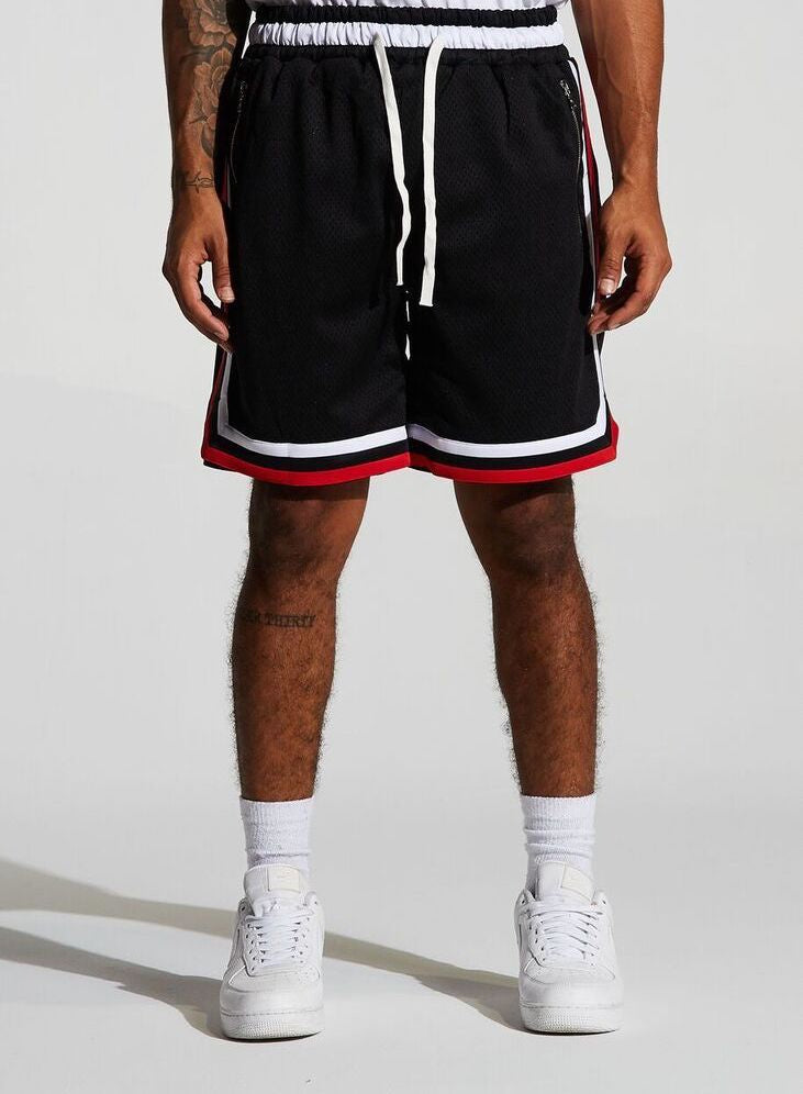 Basketball Mesh Shorts Bulls (Black/Red) /C9