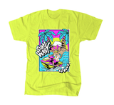 Stay Wavy Tee (Safety Yellow) /D11