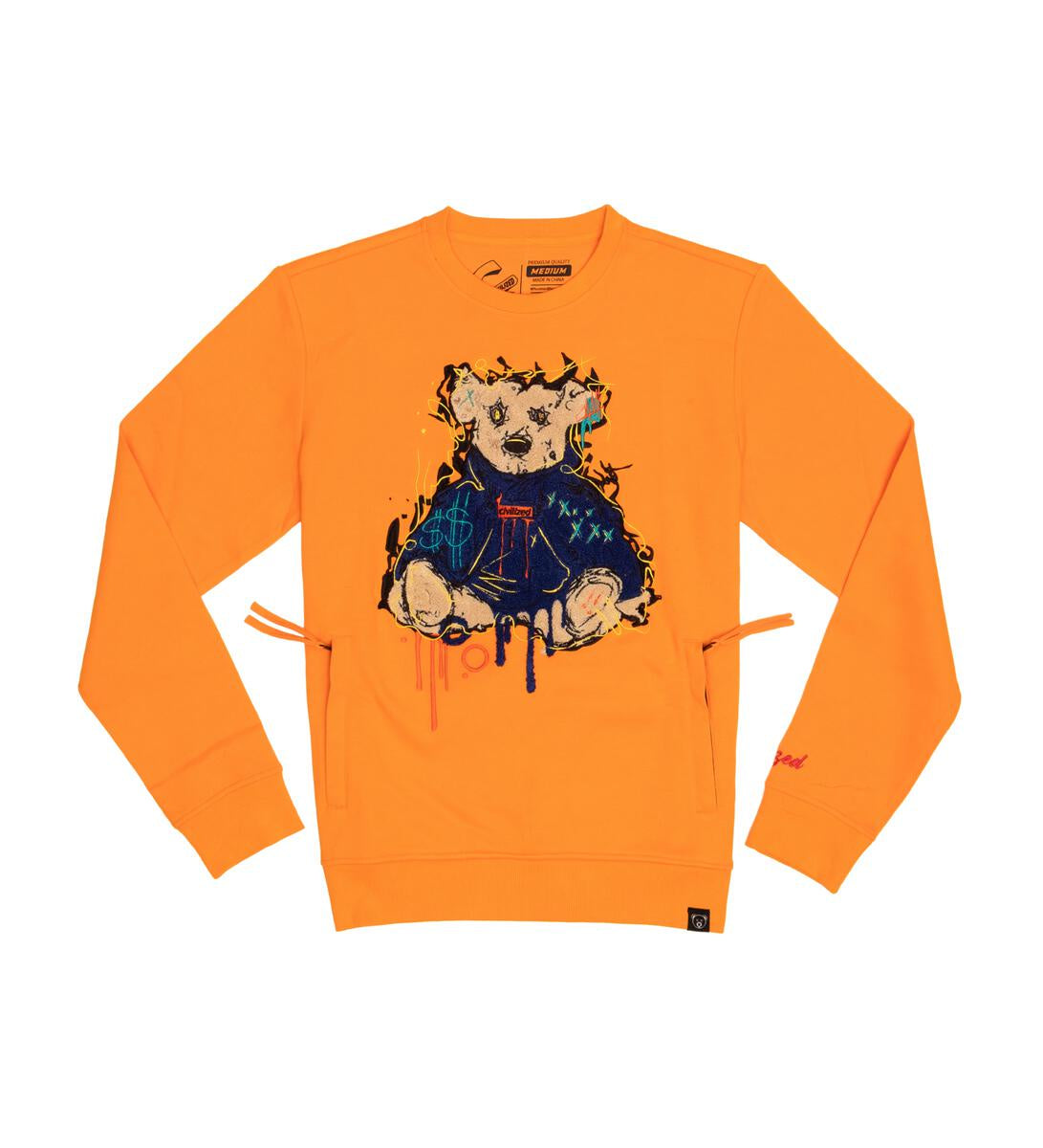 Sit Bear Crewneck (Lt. Orange) /D13