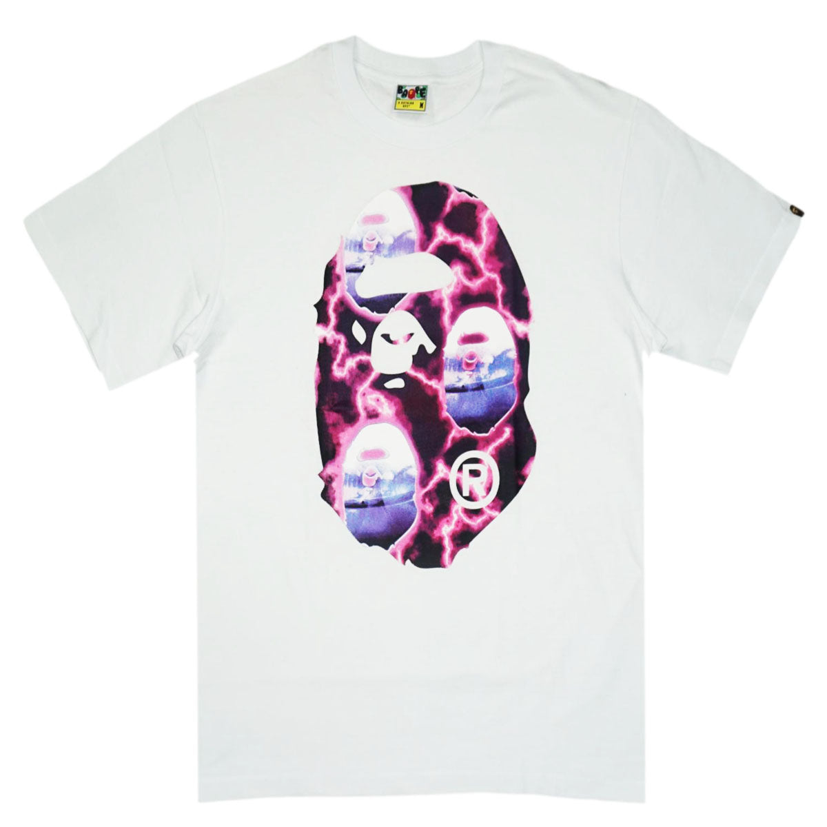 Bape Big Ape Head Tee (Wte/Pink) /D?