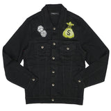Angel Money Bag Denim Jacket (Black)/D3