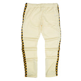 Racing Checker Track Pants (Banana/Mustard) / D1