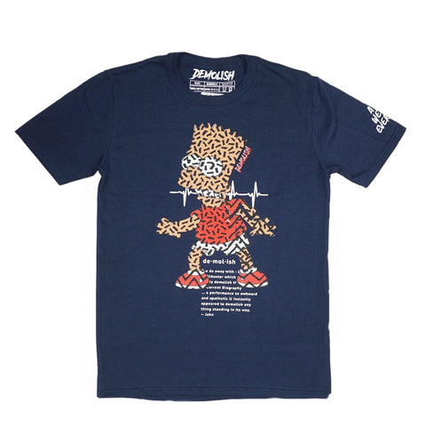 Bart Puzzled Tee (Navy) /D10