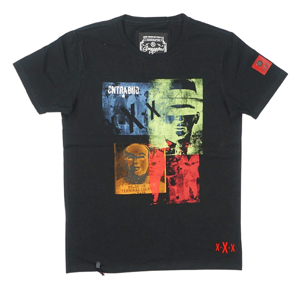 Mugshot Collage Tee (Black) / D11