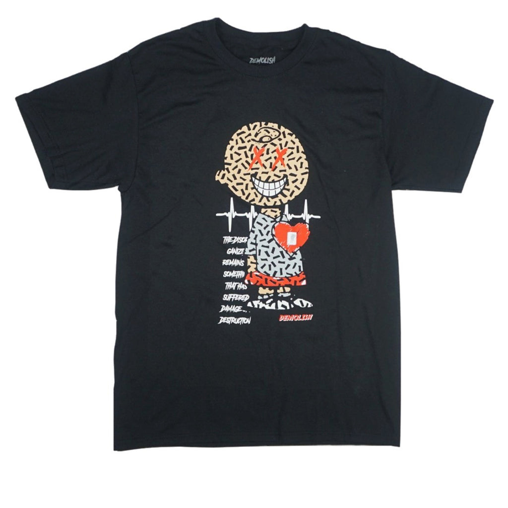 Charlie Puzzled Tee (Black/Grey) /D13