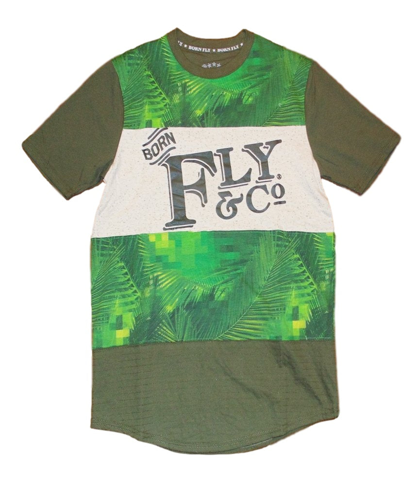 Born Fly- Palm Tree Extended Tee