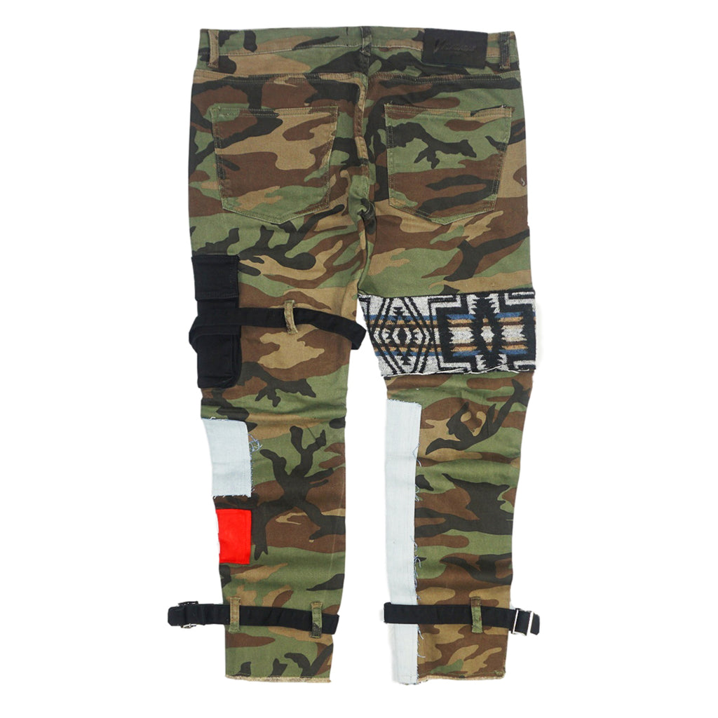 Camo Patchwork Denim (Camo Green) /C3