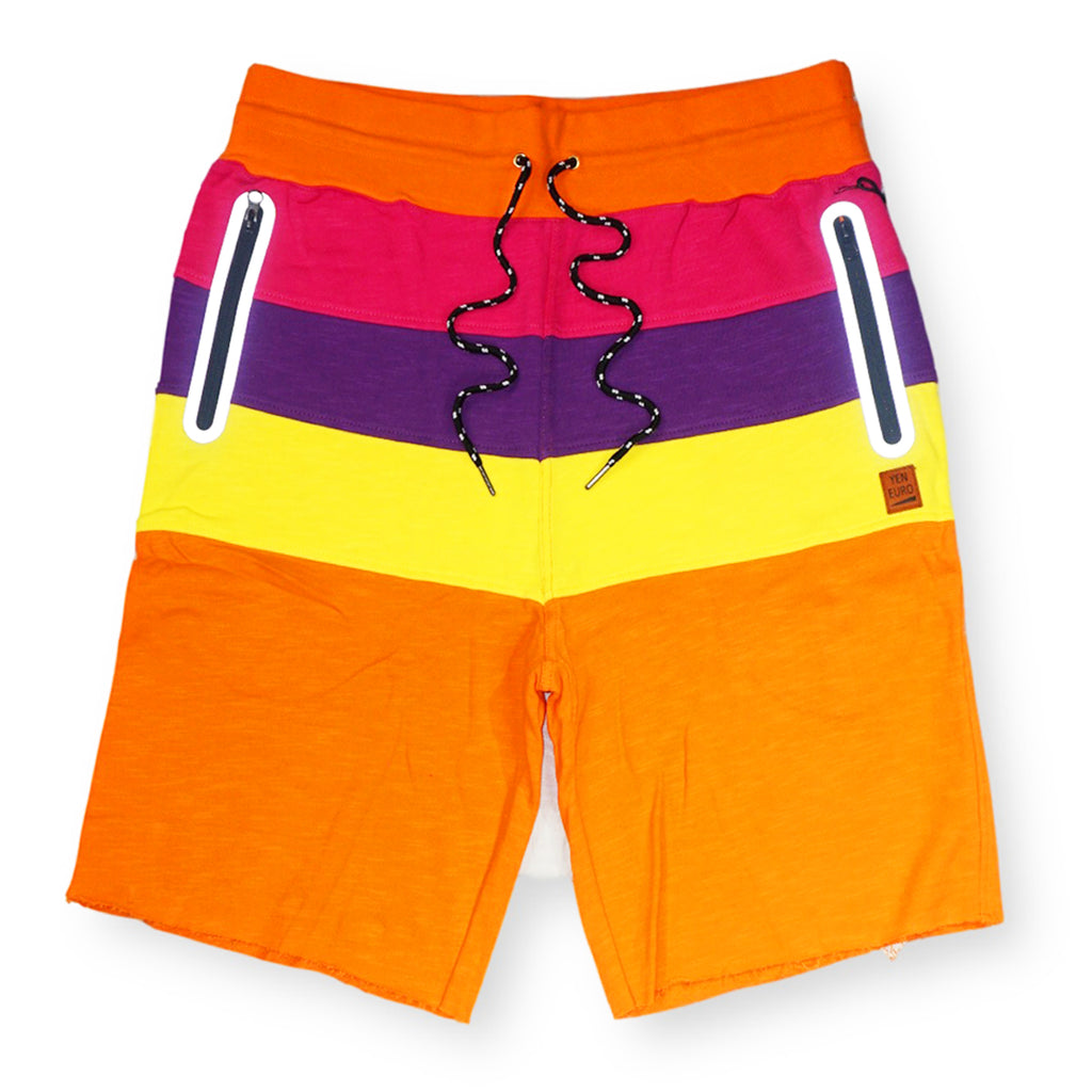 YE Color Block Shorts (Orange) / C7