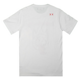 Tongue S/S Crew Neck Tee (White) /D17