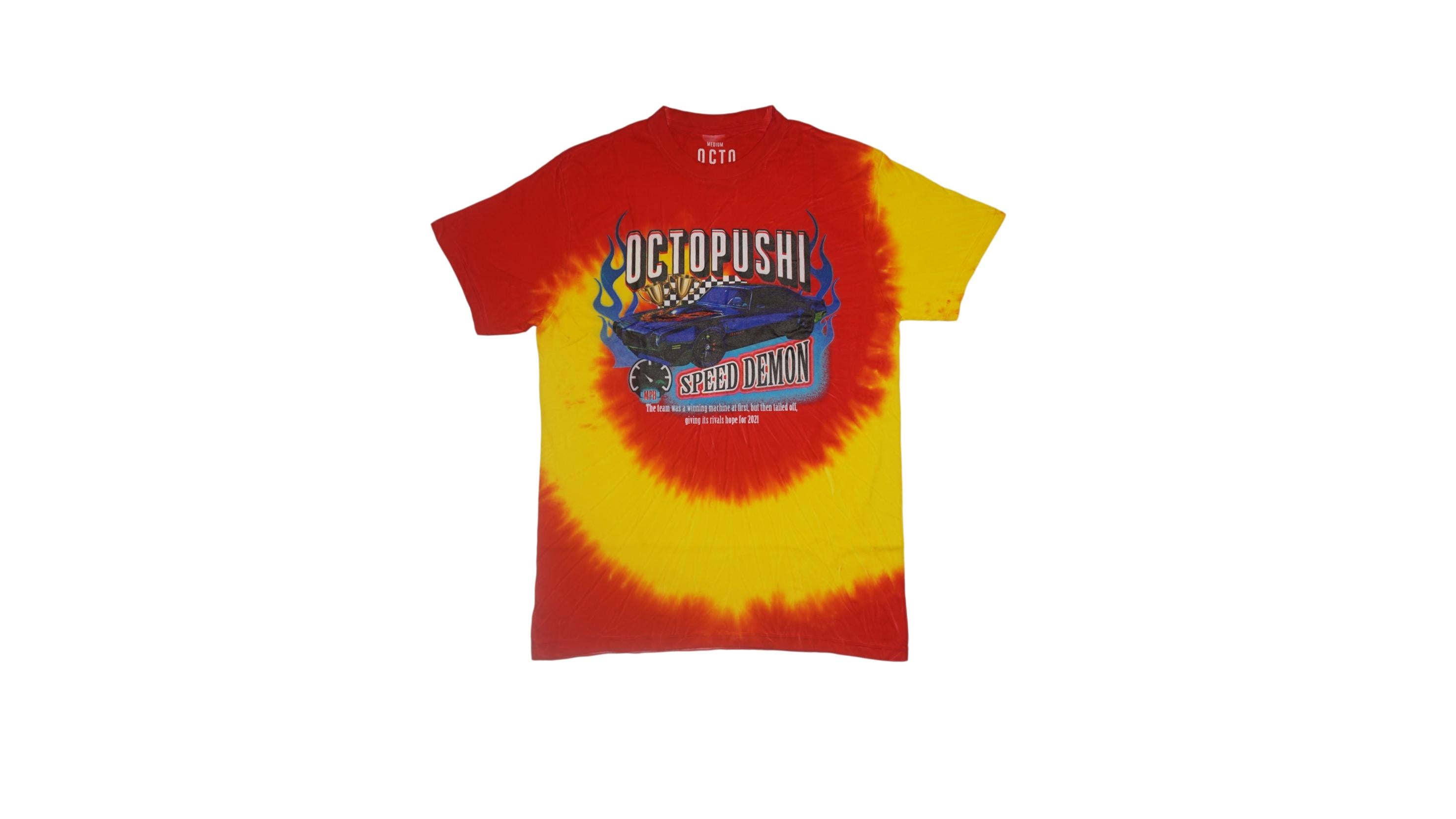 Speed Demon Tie-Dye Tee (Red/Org) /D11