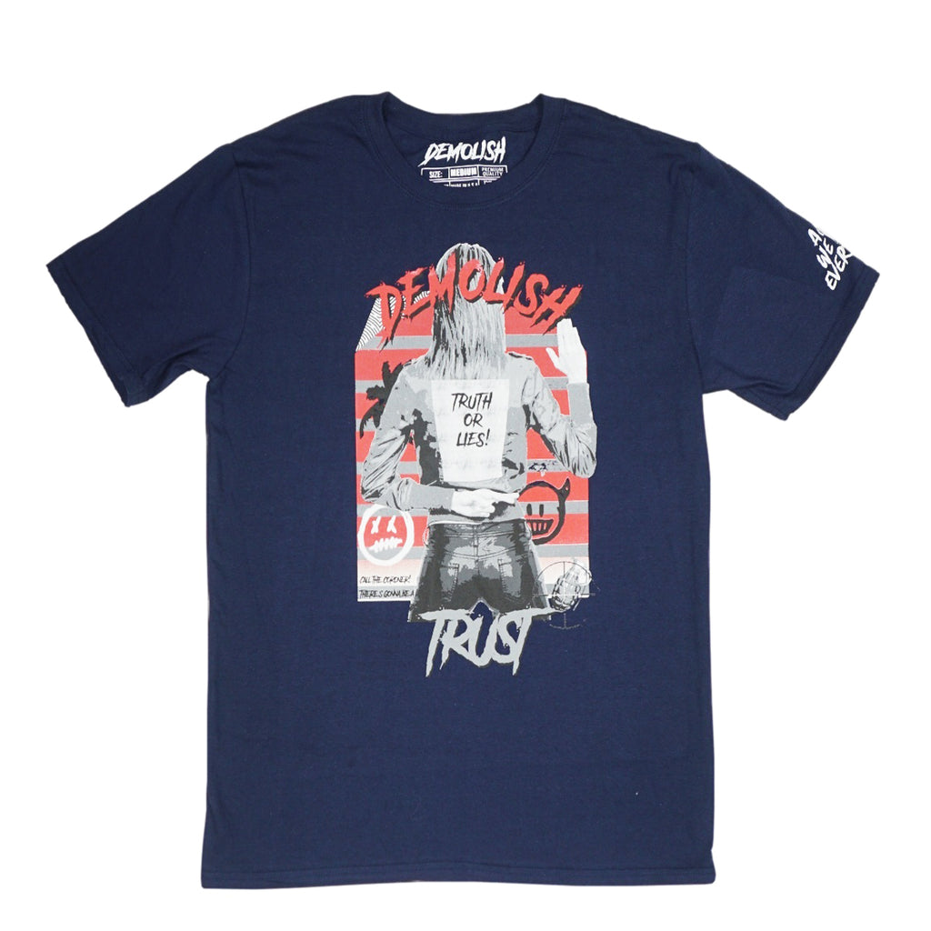 Truth & Lies Tee (Navy) /D8