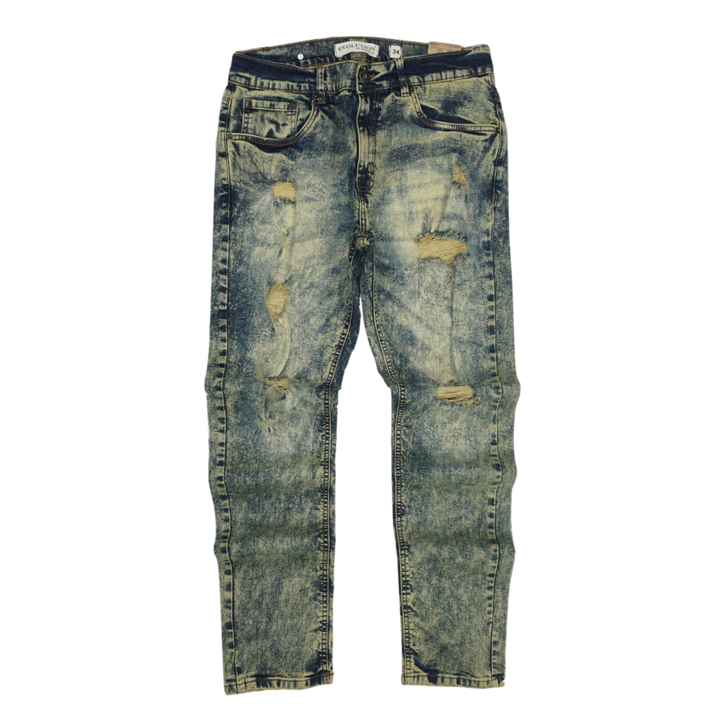 Distressed Vintage Wash Denim (Lt. Tint) /C6