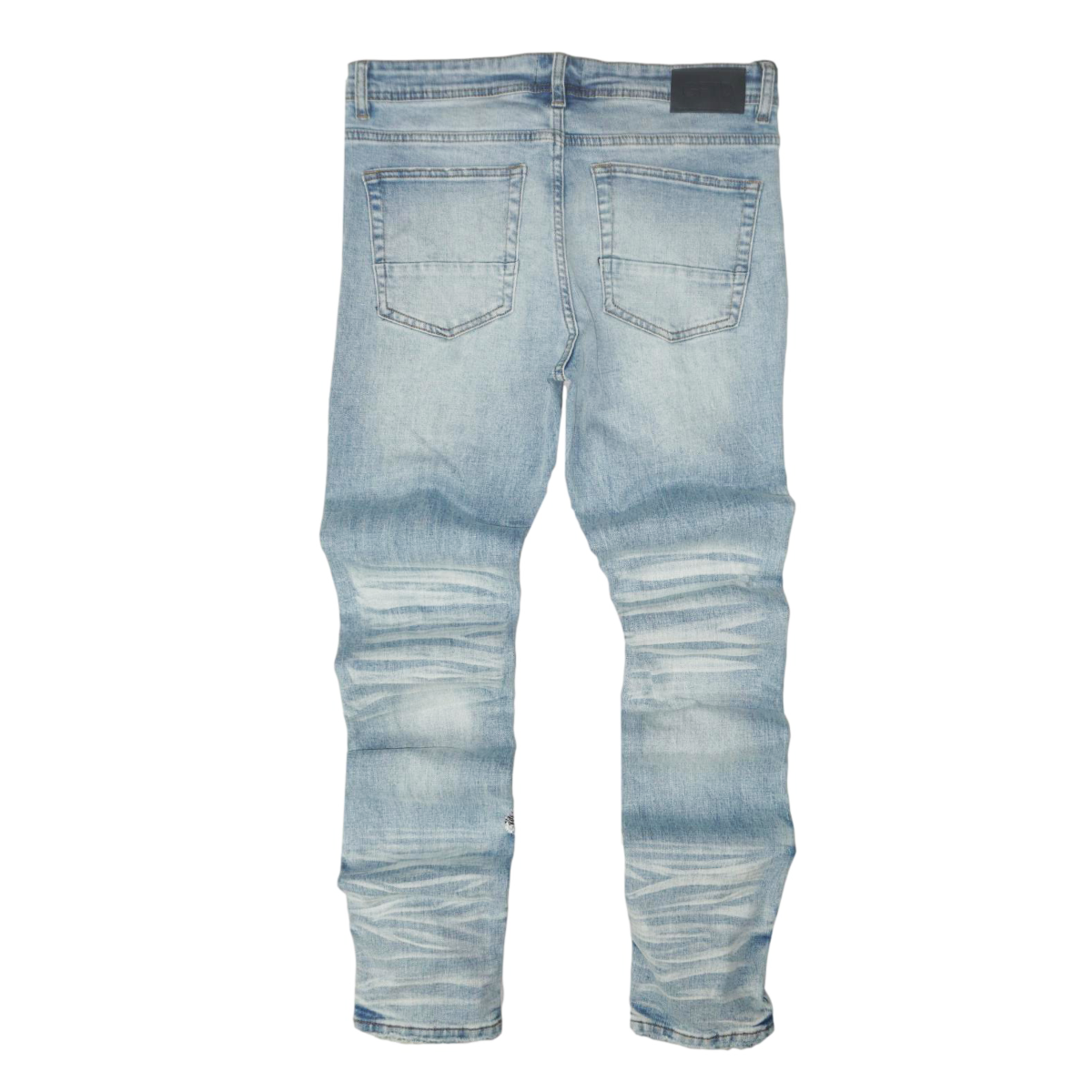 Alan Patch Distressed Denim (Lt. Blue) /C4