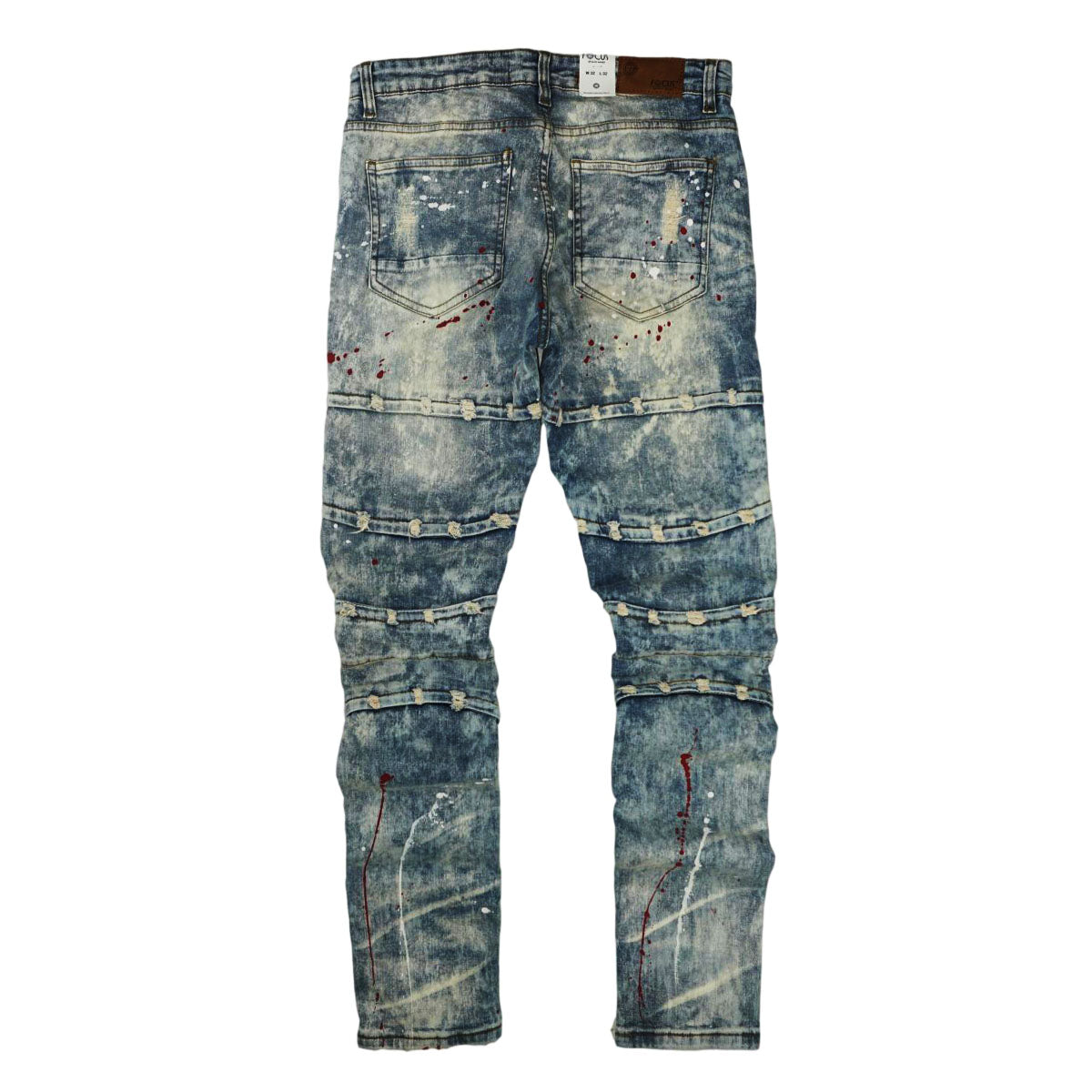 Heartbreak Distressed Biker Denim (Vintage Md. Blue) / C8