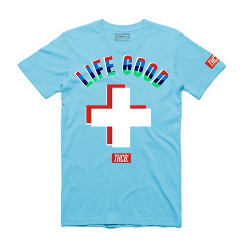 Life Good Tee (Pool Blue) /D7