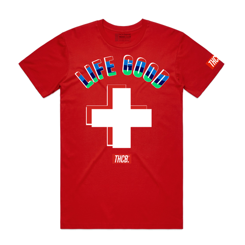 Life Good Tee (Red) /D7