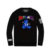 Mream Chenille Logo Teddy Crew (Black) / C3