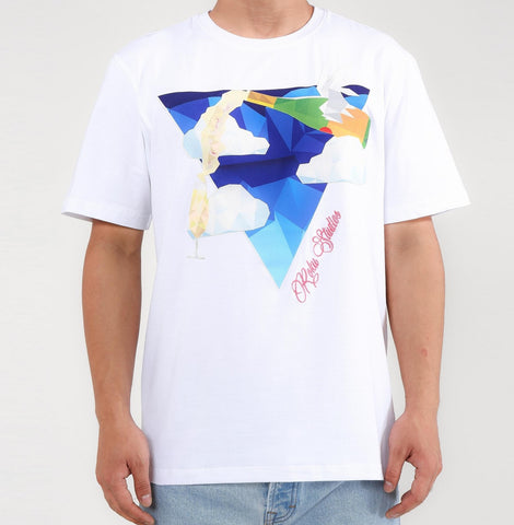 Champagne From The Sky Tee (White) / D6
