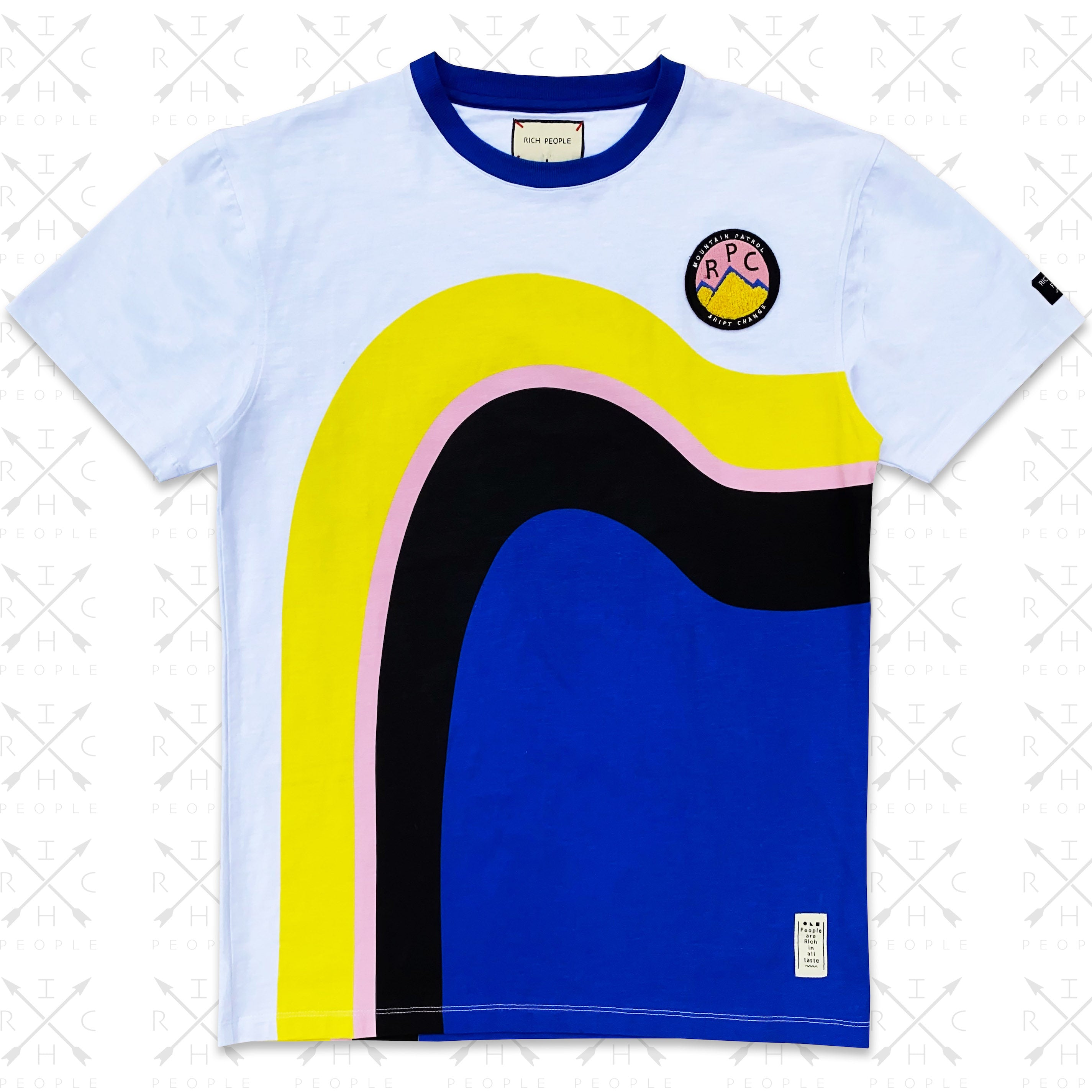 Sunset Drip Tee (Blue/Yllw) /D3