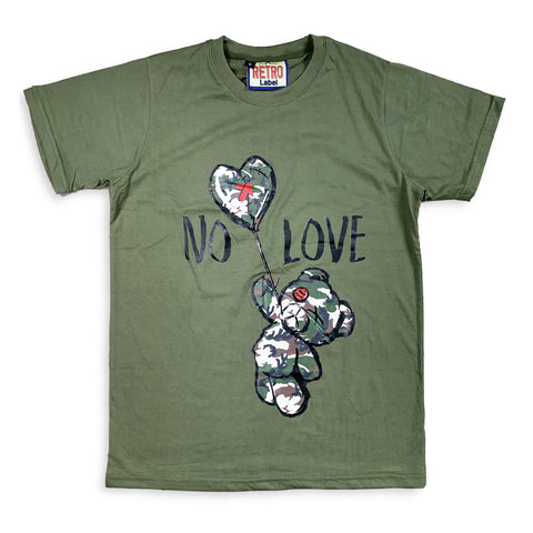 No Love SS Tee (Olive/Camo) / D?